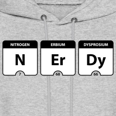 Nerdy Periodic Table Hoodies