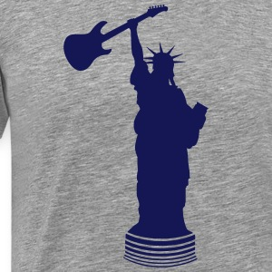 Statue of Liberty with guitar Shirt - Men's Premium T-Shirt