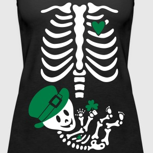 Gladditudes St. Paticks Maternity Skeleton Tanks - Women's Premium Tank Top