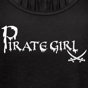 pirate girl across with s Tanks - Women's Flowy Tank Top by Bella