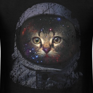 Grunge Astronaut Cat - Men's T-Shirt