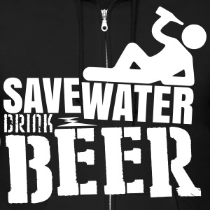 Save water Drink beer Zip Hoodies & Jackets - Men's Zip Hoodie
