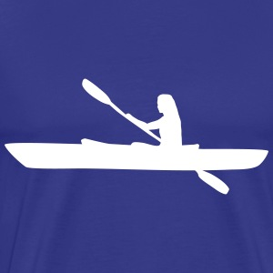 Kayak, kayaker - woman T-Shirts - Men's Premium T-Shirt