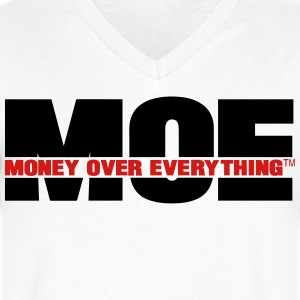 MONEY OVER EVERYTHING - Men's V-Neck T-Shirt by Canvas