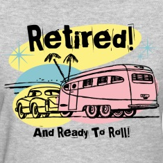 Retro Trailer Retired Women's T-Shirts