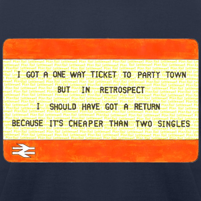 One Way Ticket to Party Town (American Apparel T-shirt)