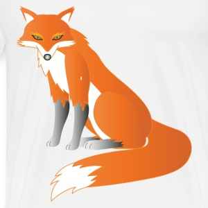 a sitting red fox - Men's Premium T-Shirt