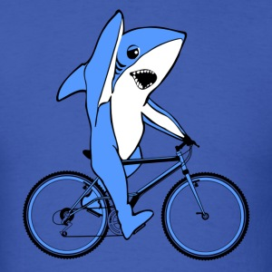 Funny Left Shark Bike Tees - Men's T-Shirt