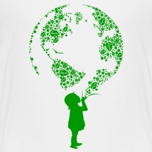 Earth Child (green) Kids' Shirts - Kids' Premium T-Shirt