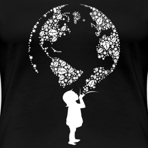 Earth Day Child (white) Women's T-Shirts - Women's Premium T-Shirt
