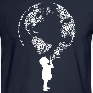 Earth Day Child (white) Long Sleeve Shirts - Men's Long Sleeve T-Shirt