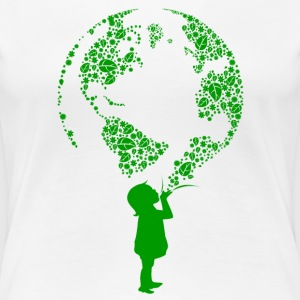 Earth Child (green) Women's T-Shirts - Women's Premium T-Shirt