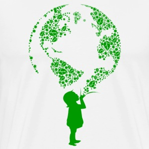 Earth Child (green) T-Shirts - Men's Premium T-Shirt