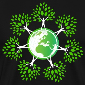 Earth Day Tree People (2c T-Shirts - Men's Premium T-Shirt