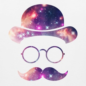 Retro Face with Moustache & Glasses / Universe  Tank Tops - Men's Premium Tank