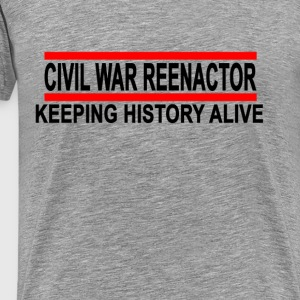 civil_war_reenactor_tshirt - Men's Premium T-Shirt