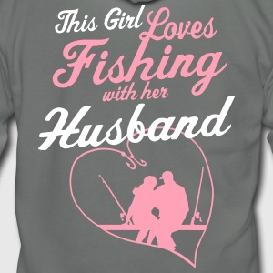 Fishing With Her Husband - Country Closet Zip Hoodies & Jackets - Unisex Fleece Zip Hoodie by American Apparel