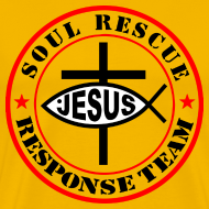 Design ~ Jesus Christ Fish Cross response team Red&black