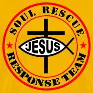 Design ~ Jesus Christ Fish Cross response team Red&black