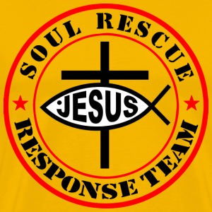 Jesus christ soul rescue men tshirt - Men's Premium T-Shirt