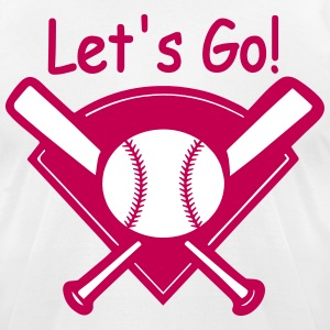 Let's Go Baseball - Men's T-Shirt by American Apparel