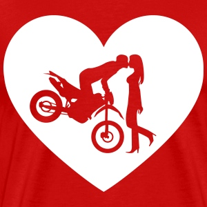 Motorcycle Enduro Cross kiss Shirt - Men's Premium T-Shirt