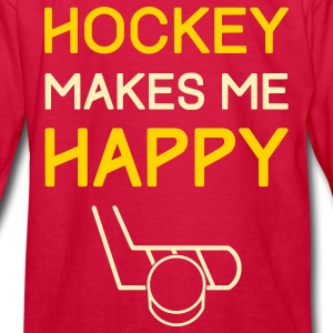 Hockey Makes Me Happy Kids' Shirts - Kids' Long Sleeve T-Shirt