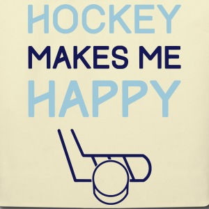 Hockey Makes Me Happy Bags & backpacks - Eco-Friendly Cotton Tote