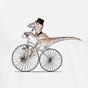 gentleman Dino riding - Men's Premium T-Shirt