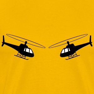 Helicopter fun helicopter team T-Shirts - Men's Premium T-Shirt