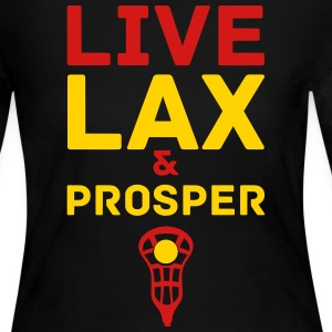 Live Lax And Prosper Long Sleeve Shirts - Women's Long Sleeve Jersey T-Shirt