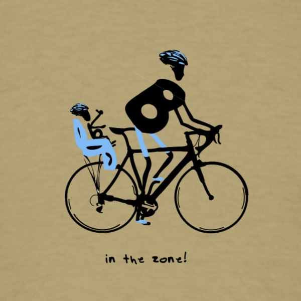 Baby Boomers - in the zone! Dad and son bicycle t - Men's T-Shirt