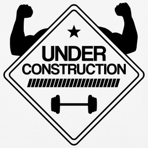 muscles under construction T-Shirts - Baseball T-Shirt