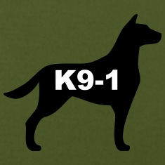 k9-1 Logo Large T-Shirts