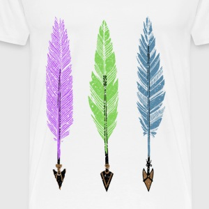 Feathers and Arrows T-Shirts - Men's Premium T-Shirt