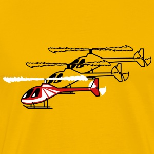 Helicopter Helicopter flying model lineup T-Shirts - Men's Premium T-Shirt