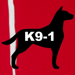k9-1 Logo Large Zip Hoodies & Jackets - Unisex Fleece Zip Hoodie by American Apparel