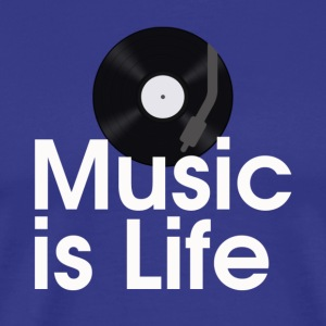 Music is Life Mens Tee - Men's Premium T-Shirt