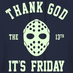 FRIDAY THE 13TH GLOW IN THE DARK MEN HOODIE SWEAT
