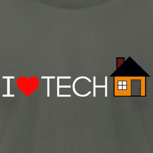 I Love Tech House fitted Mens tee - Men's T-Shirt by American Apparel