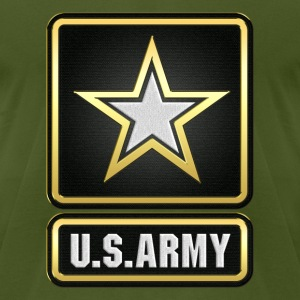 U.S.  Army Logo 3D  - Men's T-Shirt by American Apparel