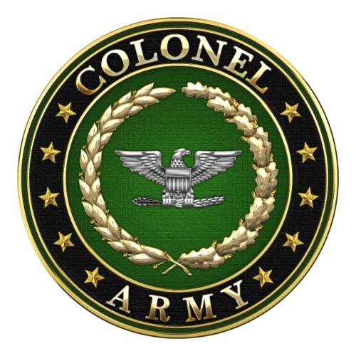 Army Colonel (COL) Rank Insignia 3D
