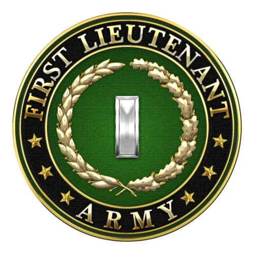 First Lieutenant (1LT) Rank Insignia 3D