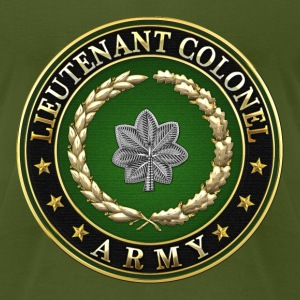 Lieutenant Colonel (LTC) Rank Insignia 3D  - Men's T-Shirt by American Apparel