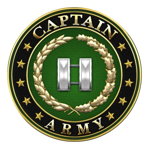 Captain (CPT) Rank Insignia 3D