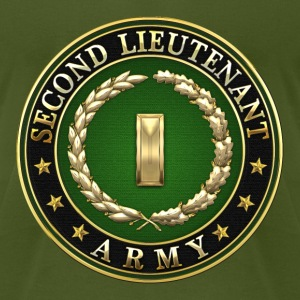 Second Lieutenant (2LT) Rank Insignia 3D  - Men's T-Shirt by American Apparel