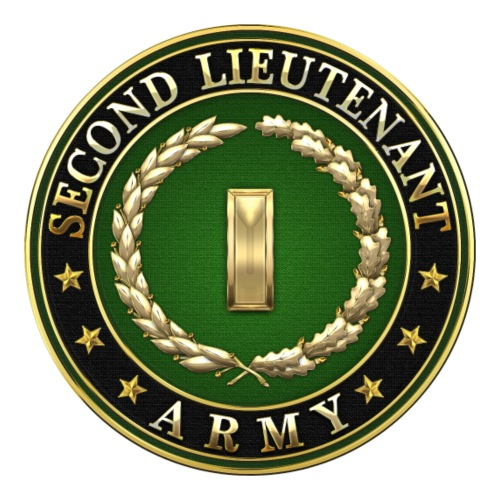 Second Lieutenant (2LT) Rank Insignia 3D