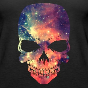 Universe - Space - Galaxy Skull Tanks - Women's Premium Tank Top