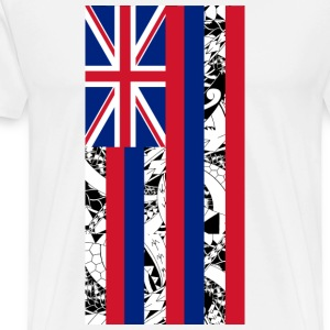 Tribal Hawai State Flag - Men's Premium T-Shirt