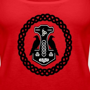 Thor's Hammer in Celtic Circle  Tanks - Women's Premium Tank Top